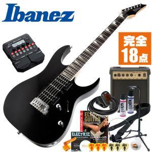 初心者セット エレキギター アイバニーズ マルチエフェクター付属 エレキ 19点 入門 Ibanez GRG170DX GRG-170DX