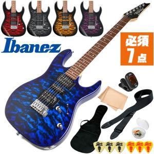 エレキギター 初心者セット アイバニーズ GRX70QA (Ibanez 8点 エレキ ギター 初心者 入門 セット)の画像