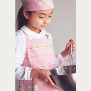 子どもエプロン三角巾セット 後ろゴム プラネテ 幼稚園 日本製 オリジナル 男の子 女の子 綿100%|jiyu
