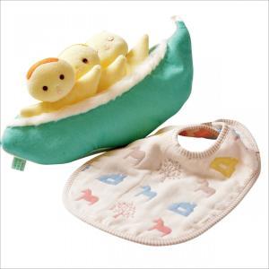 ハンドメイド【出産祝い豆人形セット】木馬のスタイ付き 男の子 女の子 出産祝い お誕生日|jiyu