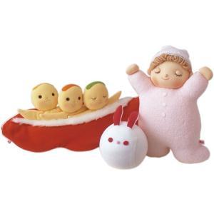 動物ボールうさぎ3点セット 豆人形オレンジ オルゴールねむり人形ピンク|jiyu