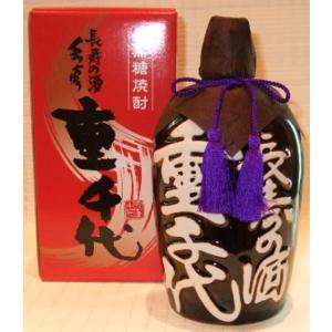 お中元ギフト 焼酎 長寿の酒 黒糖焼酎くろちゅう 「重千代」|jizake-i