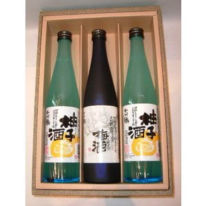 千代鶴(うめ酒 1本 ・ゆず酒 2本)セット|jizake-i