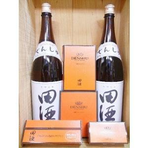 西田酒造セット 日本酒『田酒 特別純米酒 1800ml 2本』&『田酒 酒粕 コスメ/サプリ』