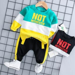 商品番号:L2-kids17 セット内容: 2点セット:トップス+パンツ カラー:ブラック、グリーン...