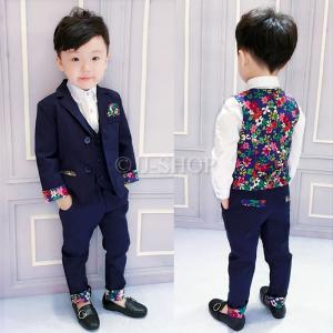 商品番号:L2-suit42 セット内容: 3点セット:ジャケット×ベスト×ズボン(ワイシャツ×蝶ネ...
