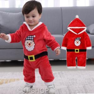 ベビー服 サンタ コスプレ クリスマス 衣装 サンタクロース 赤ちゃん 子供 サンタ服 女の子 コスチューム カバーオール 演出 イベント パーティー|jj-shop