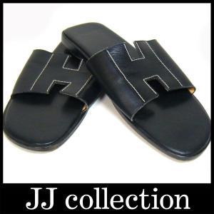 サンダル ミュール表記サイズ 36ブラック(黒) レザー|jjcollection2008