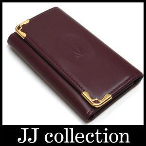 4連キーケースマストライン レザーボルドー×ゴールド金具キーケース|jjcollection2008