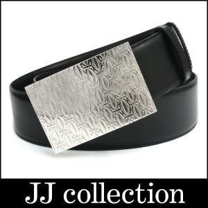 メンズ ベルト ハッピーバースデー L5000404 ブラック シルバー金具|jjcollection2008