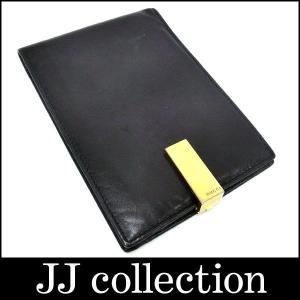 二つ折り財布 030.0416.1351 レザー ブラック ゴールド金具|jjcollection2008