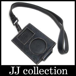 GUCCI ipod アイポッドケースシマ ッシマレザー ブラック 154588ネックストラップ付きで便利|jjcollection2008