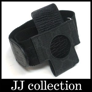 ipod アイポッドケースパテント・モノグラム・アームPVC×キャンバス ブラック 163246マジックテープで調節が出来て便利|jjcollection2008