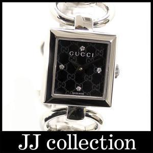 バングルウォッチトルナヴォーニYA120507 1204Pダイヤ SS クオーツブラック(黒)GG柄文字盤腕時計|jjcollection2008