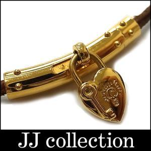 HERMES エルメス チョーカー ファンタジー ヴィヴィリデ ハート カデナ キー レザー ブラウン×ゴールド金具 jjcollection2008