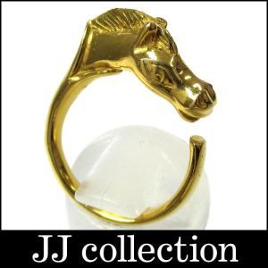 HERMES エルメス シュバル ホースモチーフ リング ゴールドカラー jjcollection2008