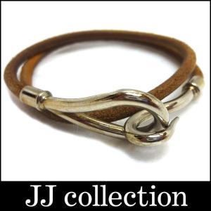 HERMES エルメス ジャンボチョーカー ブラウン(茶色)×シルバー金具 jjcollection2008