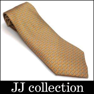シルクネクタイ シルク100% オレンジ×ベージュ|jjcollection2008