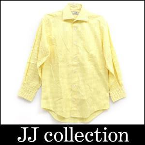 チェック 長袖シャツ イエロー 表記サイズ:38-15 M|jjcollection2008