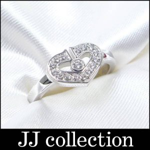Cartier カルティエ Cハートダイヤリング K18WG/750 ホワイトゴールド 表記サイズ46 パヴェダイヤ|jjcollection2008