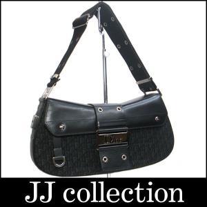 Christian Dior クリスチャンディオール ショルダーバッグ ストリートシック ロゴ金具 ブラック×シルバー金具|jjcollection2008