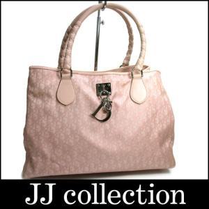 Christian Dior クリスチャンディオール ハンドバッグ トロッター ラブリートート ナイロン×レザー ピンク×シルバー金具|jjcollection2008