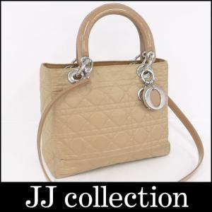 Christian Dior クリスチャン・ディオール 2WAYショルダーバッグ ハンドバッグ レディディオール カナージュ|jjcollection2008