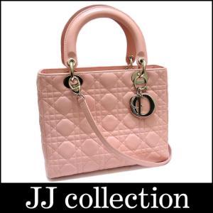 Christian Dior クリスチャンディオール 2WAY ハンドバッグ レディディオール カナージュステッチ ピンク×レザー×シルバー金具|jjcollection2008