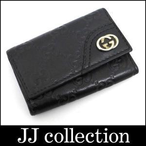 GUCCI 6連キーケース ブラック×シルバー金具|jjcollection2008