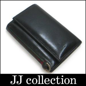 6連キーケース ウェビングライン 131928 ブラック×シルバー金具|jjcollection2008