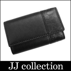 GUCCI 6連キーケース ミストラル シマ×ブラック シルバー金具 256433|jjcollection2008