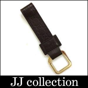 キーリング/キーホルダー シマ 199919 ゴールド金具×ダークブラウン(茶)|jjcollection2008