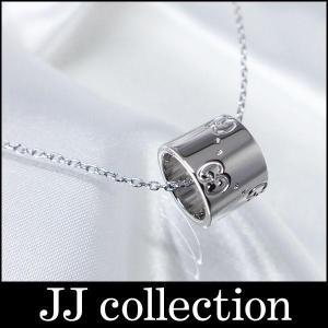 GUCCI グッチ GGアイコン ネックレス GGロゴ 750WG K18WG ホワイトゴールド|jjcollection2008
