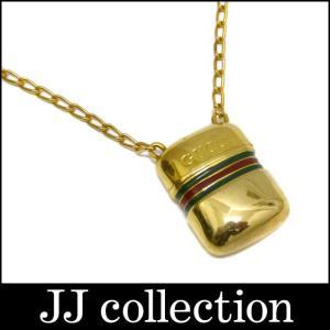 GUCCI グッチ ピルケース ネックレス ゴールドカラー シェリーライン オールドグッチ jjcollection2008
