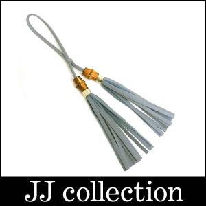 タッセル チャーム バンブー ライトブルー系 レザー×ゴールド金具|jjcollection2008