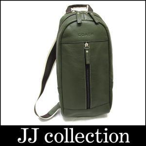 COACH コーチ ボディバッグ レザー グリーン F70811【中古】[iz]|jjcollection2008