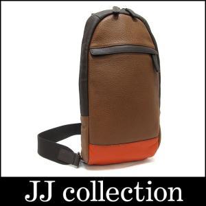 COACH コーチ ボディバッグ レザー ブラウン×オレンジ F70922【中古】[iz]|jjcollection2008
