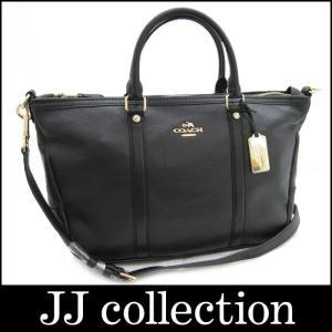 COACH コーチ セントラルサッチェル 2WAYハンドバッグ ブラック レザー F55662【Jコレ】[iw]|jjcollection2008