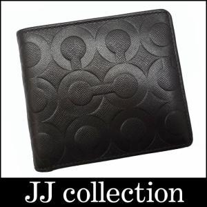 COACH コーチ 二つ折り財布 オプアート レザー ダークブラウン(茶)|jjcollection2008