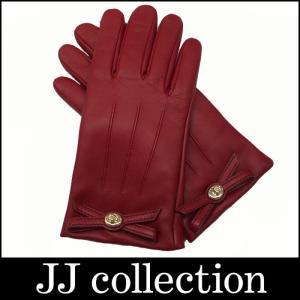 COACH コーチ グローブ レディース レザー レッド(赤) 表記サイズ:7 リボンモチーフ ゴールド金具|jjcollection2008