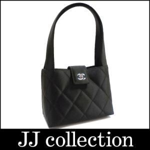 CHANEL シャネル ハンドバッグ マトラッセ サテン ブラック×シルバー金具|jjcollection2008