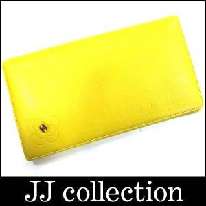 CHANEL シャネル バタフライ 2つ折り財布 A46511 イエロー カメリア ココマーク jjcollection2008