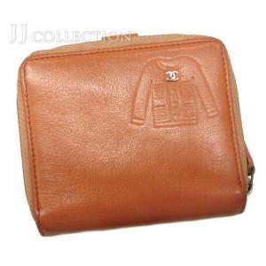 CHANEL シャネル 二つ折り財布 ジャケットモチーフ カーフスキン ローズピンク jjcollection2008