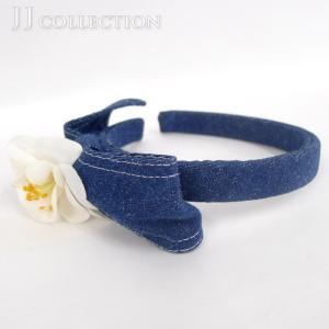◆ブランド シャネル ◆商品名 カチューシャ ◆型番 -- ◆カラー デニム・ブルー系×ホワイト ◆...