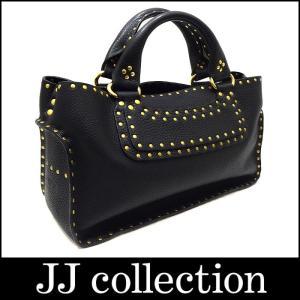 CELINE セリーヌ ハンドバッグ ブギーバッグ スタッズ レザー ブラック×ゴールド金具|jjcollection2008