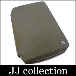 dunhill ボードン オーガナイザー ドキュメントケース グレー×シルバー金具 レザー|jjcollection2008