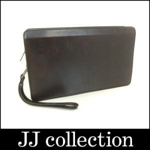 dunhill ダンヒル セカンドバッグ ビターチョコ(焦茶) レザー|jjcollection2008