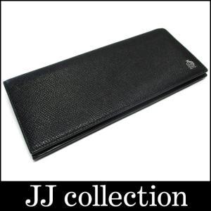 dunhill ダンヒル 小銭入れ付き二つ折り長財布 ボードン レザー ブラック×シルバー金具|jjcollection2008