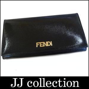 FENDI 二つ折り長財布 ブラック レザー|jjcollection2008