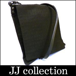 BVLGARI ブルガリ ショルダーバッグ ロゴマニア キャンバス×レザー ブラック×レッド シルバー金具|jjcollection2008